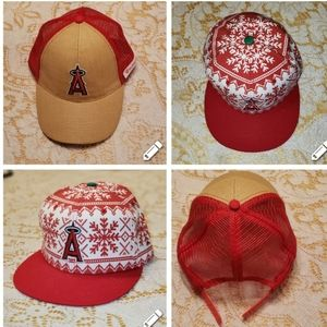 Official Anaheim Angel's Baseball Hats Set of 2